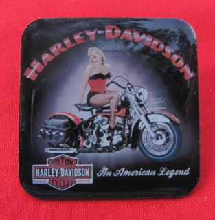 "HARLEY DAVIDSON MARILYN MONROE ""SEXY PINUP GIRL"" VEST PIN"