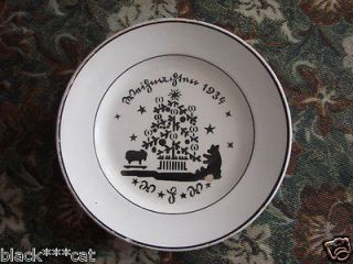 Antique RARE German Christmas Plate by G S Zell, Georg Schmider 1934