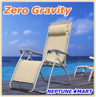 Newly listed Zero Gravity Folding lounge Chair leisure recliner Beige