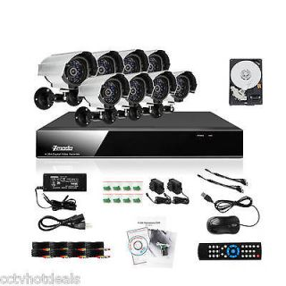 Zmodo 8 CH Channel DVR 8 Outdoor CCTV Home Security Camera System 1TB