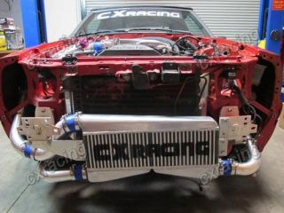 CXRacing 79 93 Fox Body Ford Mustang V8 5.0 FMIC Twin Turbo