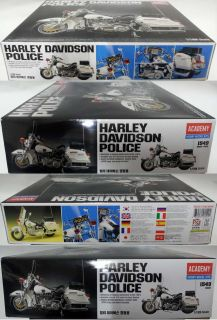 New 1 10 Academy Classic Harley Davidson Police Motorcycle Series