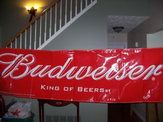 Budweiser Beer Banner Sign New Never Displayed 10 Feet Long Bud