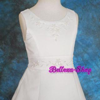 White Flower Girl Pageant Communion Dress Bag sz12 13