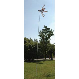 14 heavy duty wind yard garden spinner telescoping pole telescoping