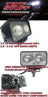 OFF ROAD LED FLOOD BEAM FOG LIGHT  DUAL 10W CREE LED  1700 LUMEN