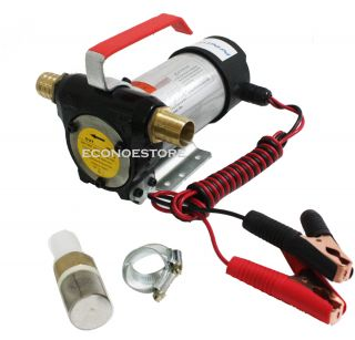 12v Diesel Fuel Oil Transfer Pump 11 GPM Direct Current 16Ft