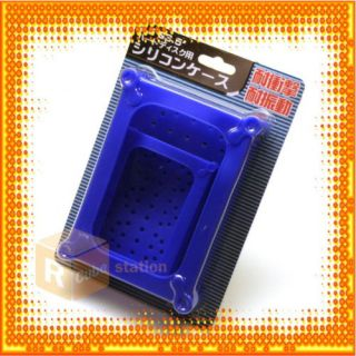 Blue Silicon Enclosure Case for 2 5 3 5 SATA IDE SSD HDD Hard Disk