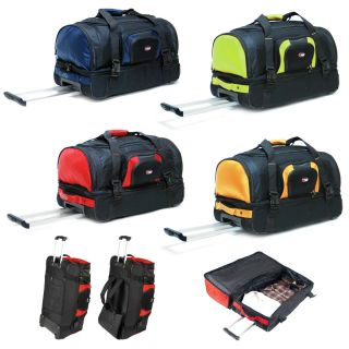 26 2 Section Rolling Duffel Bag Wheeled Camping Duffle Luggage