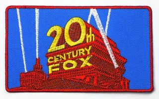 20th Century Fox Film Studio Logo Embroidered Iron on Patch