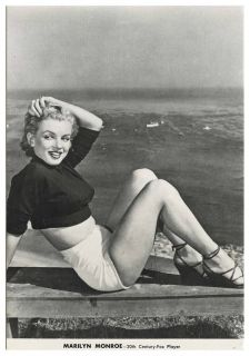 Marilyn Monroe 20th Century Fox Player Postcard