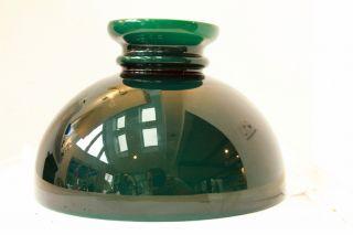 Antique Green Cased Glass Student Lamp Shade 10 Diameter