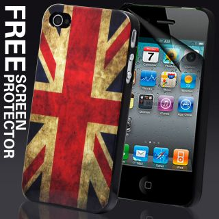 Series Hard Case Cover for iPhone 4 4S Free Screen Protector