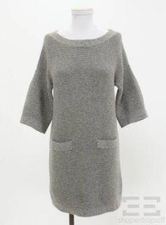 phillip lim grey cashmere knit sweater dress size xs