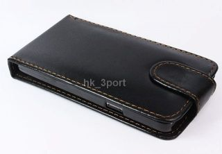 Black Luxury PU Leather Case Cover Flip Pouch for Samsung Galaxy S2