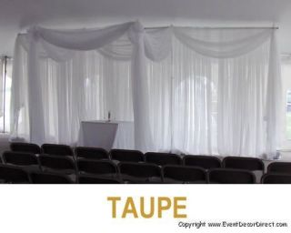 30ft Long Sheer Valance for Draping Wedding Backdrop Party Drape Decor