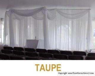 30ft Long Sheer Valance for Draping Wedding Backdrop Party Drape Decor