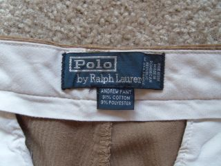 Mens 32 x 30 Polo Cords Ralph Lauren Pleated Andrew Corduroy Dress