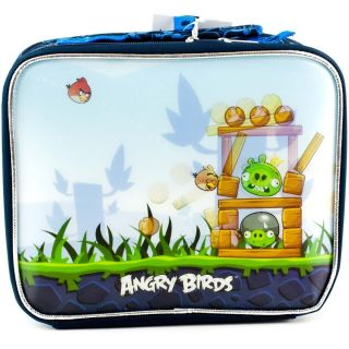 ANGRY BIRDS Game 3D Graphics School LUNCH TOTE Bag Box Sack Kit