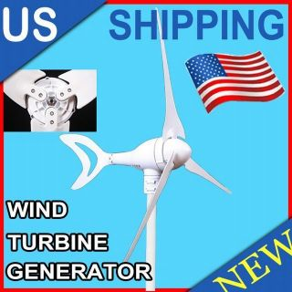 400W WATTS MAX 12 24V BLADE OPTION WIND TURBINE GENERATOR KIT