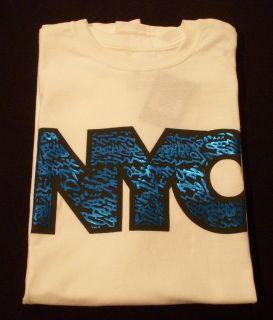 NEW NIKE AIR JORDAN NYC TEE SHIRT BLUE 3 4 5 7 11 SPACE JAM XI 424197