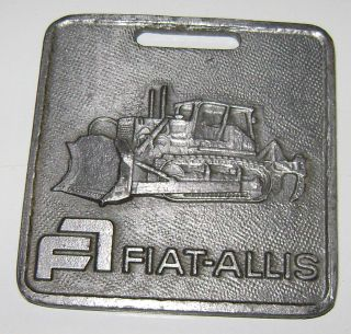 Fiat Allis Crawler Tractor Bull Dozer Scarifier Watch Fob construction