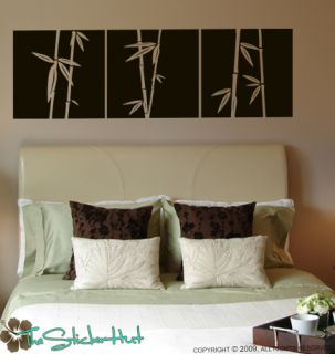 Bamboo Shoot Panels Wall Decor Decals Stickers 686