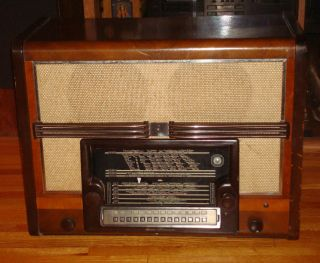 Philips 990X Tube Radio Holland World Band Shortwave 1940 1941