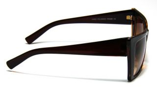 Vintage Retro Style Cat Eye Cool Brown Square Frame Sunglasses Shade
