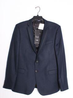 Diamonds PALERMO Navy Blue Blazer Wool Bamboo Sport Coat JKT 7735