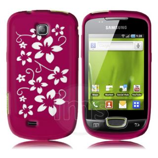 Samsung Galaxy Mini S5570 Hot Pink Silicone Flora Case