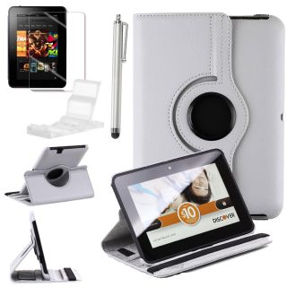 360 Rotating PU Leather Case Cover Stand for  Kindle Fire HD 7