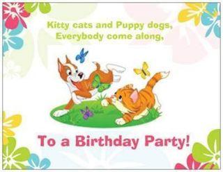 20 Birthday Invitations Post Cards Cat Dog Child Kids