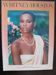 Whitney Houston Piano Vocal Song Book Sheet Music 1984
