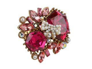 Betsey Johnson Fabulous Fuchsia Pink Crystal Cluster Ring $50.99 $65