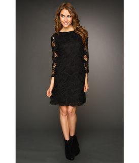 nicole miller floral mesh long sleeve dress $ 275 00