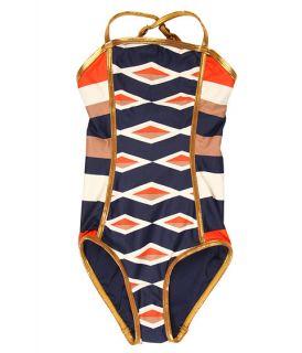 Little Marc Jacobs Hayley Stripe Bandeau Maillot (Toddler/Little Kids