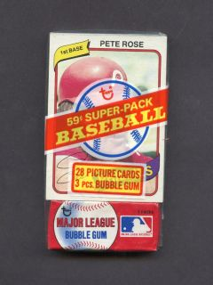 Topps Super Cello Unopened Pack w/ Pete Rose Cincinnati Reds Top Front