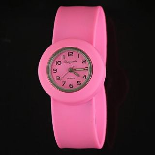 New Unique Whole Color Silicone Band Children Wrist Watch A25