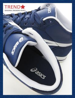 Brand New Asics Aaron MT Estate Blue White Hi Shoes 20