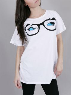 Abbey Dawn Avril Lavigne Peepers Glasses Oversized T Shirt Tee Top