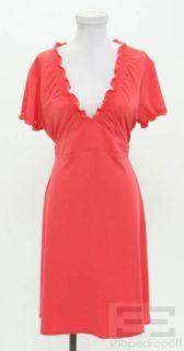 BCBG Max Azria Coral Jersey Cap Sleeve Dress Size L New