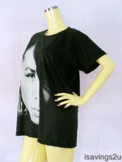 AALIYAH T shirt, URBAN POP Queen Soul R&B Black S M & L Size, Princess