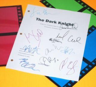 THE DARK KNIGHT SIGNED SCRIPT RPT CHRISTIAN BALE, HEATH LEDGER