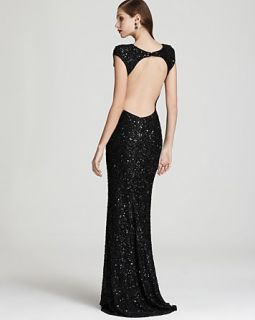 ABS Allen Schwartz Open Back Sequin Gown Size 12 NWD $570