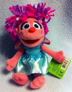 Sesame Street Abby Cadabby Beanbag Plush Doll Stuffed Toy Gund New