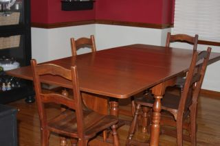Dining Room Table, Chairs, & Buffet 1940s Abernathy Furniture Company