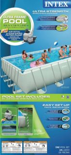 32 x 16 x 52 Ultra Frame Rectangular Swimming Pool Set  54989EG