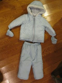 Lot of 2 Absorba Bunting fleece 12 18 Baby Snowsuit Pants Jacket Pants
