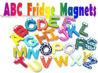 Wooden Alphabet Fridge Magnet Baby Child Toy A Z ABC Educational 26